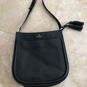 Kate Spade Lg. Blk leather Margaux crossbody bag